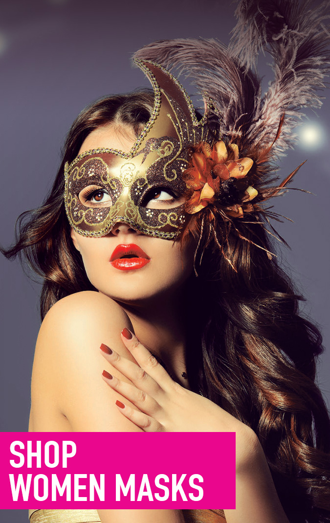 Unique Luxury Design One Side Black and One Gold Girl Lace Venetian Eye Mask Masquerade Mask for Women 2 Sides Party Supplies Accessories Carnival Mardi Gras Anniversary Fancy Ball Prom Halloween